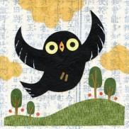 Black Owl Flying High