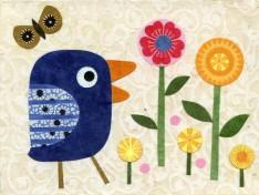 Chirpy Bird with Pretty Posies