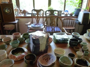 Studio and ceramics of Suzuki Goro.
