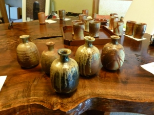 Vessels created by  Japan's Living National Treasure Isezaki Jun.