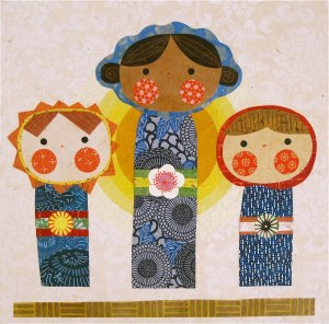 Kokeshi Kids by Kate Endle Collage